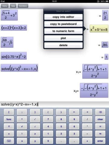 Symbolic Calculator HD