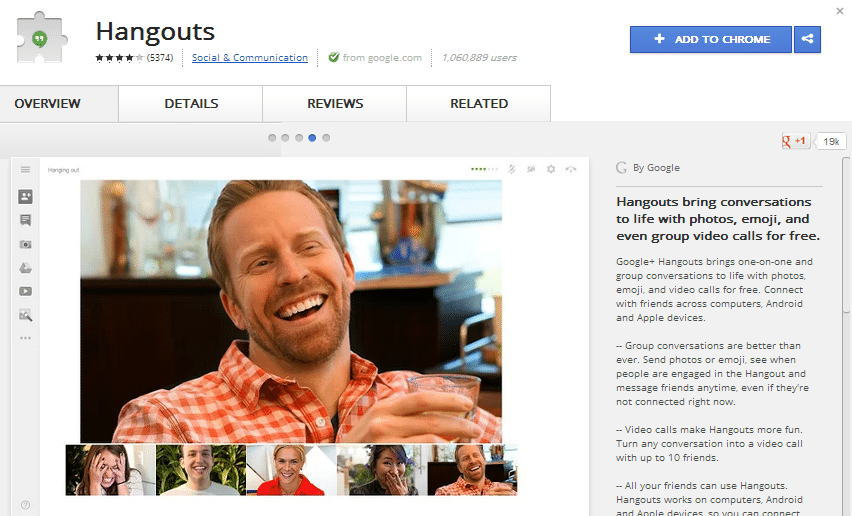 Hangouts for Chrome