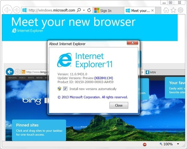 Internet Explorer 11 Developer Preview