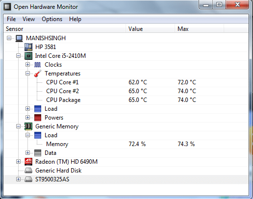 OpenHardwareMonitor