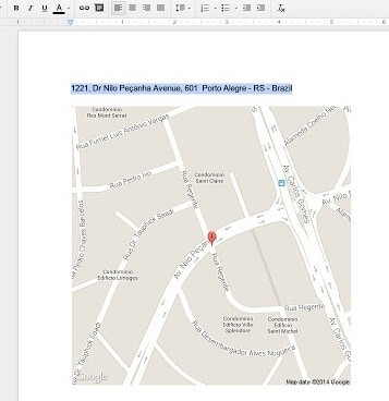google maps add-on for google drive
