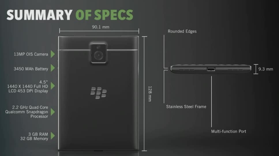 blackberry passport 10