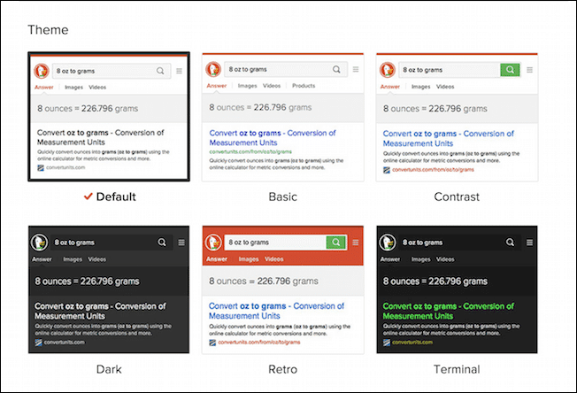 DuckDuckGo Themes