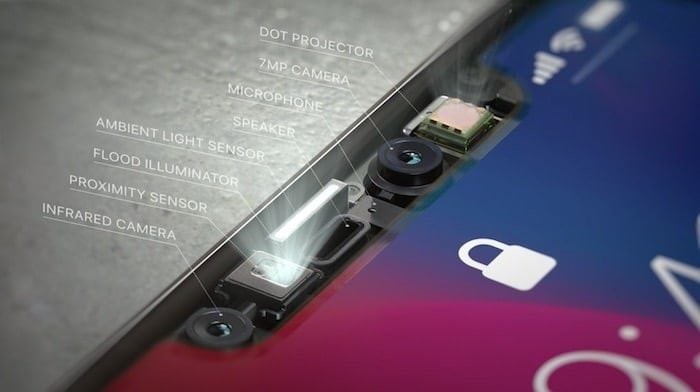 iphone x chin sensors