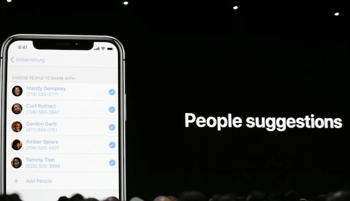 apple photos people suggestion