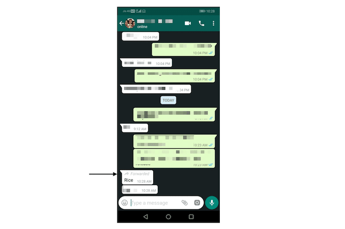whatsapp beta forward label
