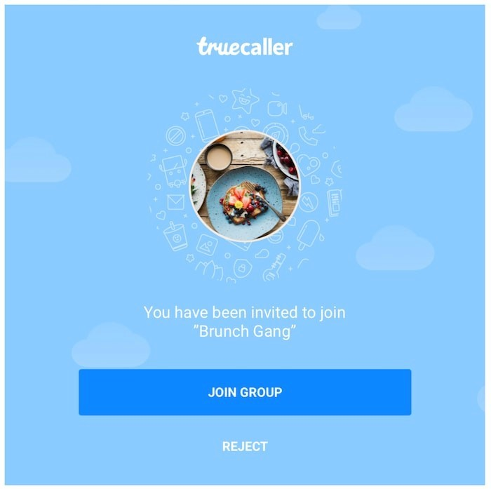 Truecaller Group Chat Invite