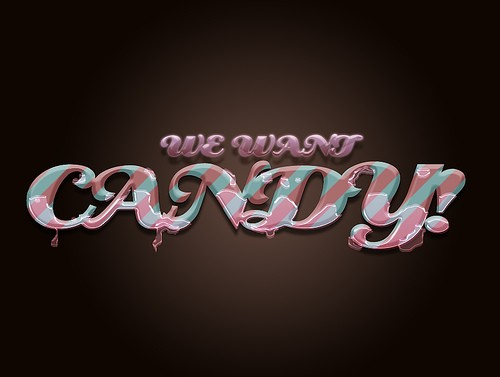 we-want-candy-typography
