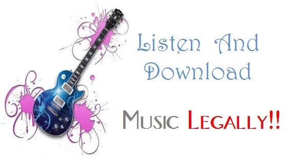 download listen music legally online