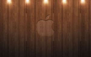 Apple Wooden Logo
