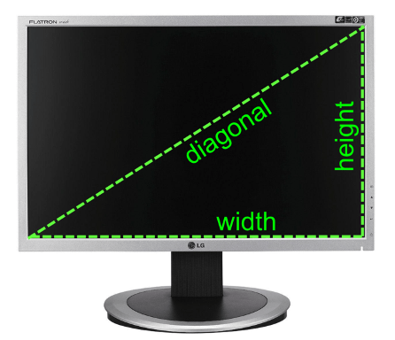 monitor diagonal