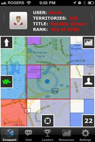 iPhone GPS Games - Own this World