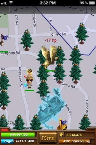 iPhone GPS Games - Parallel Kingdom