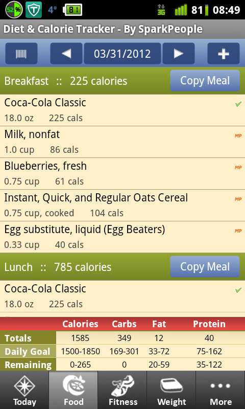 Diet and Calorie Tracker