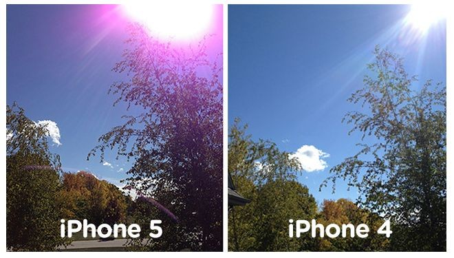 iPhone 5 vs 4 camera
