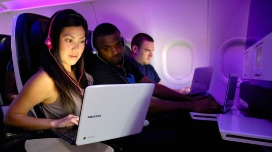 Chromebook on Virgin America