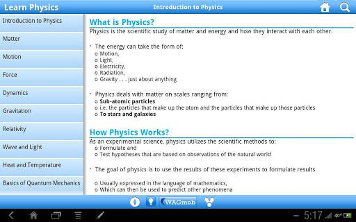 Physics by WAGmob