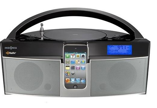 Insignia - CD Boombox with HD and FM Radio