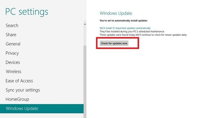 update windows 8 drivers 3