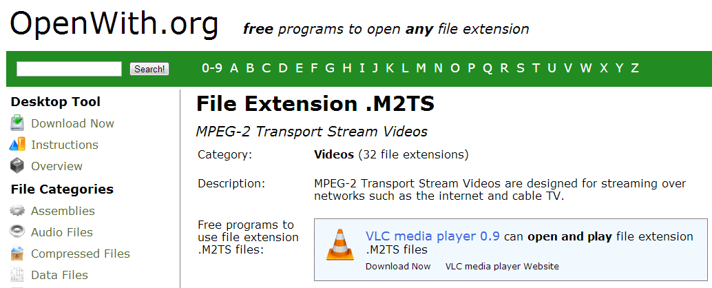 Open with at work file sample m2ts