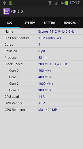CPU Z best android app