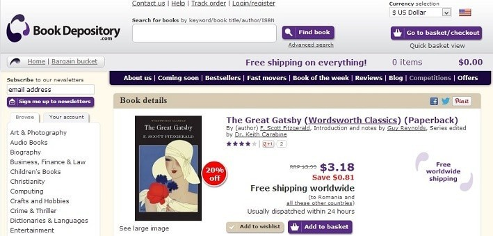 book depository buy books online