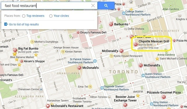 Fast-Food-Restaurant-Google-Maps-Search