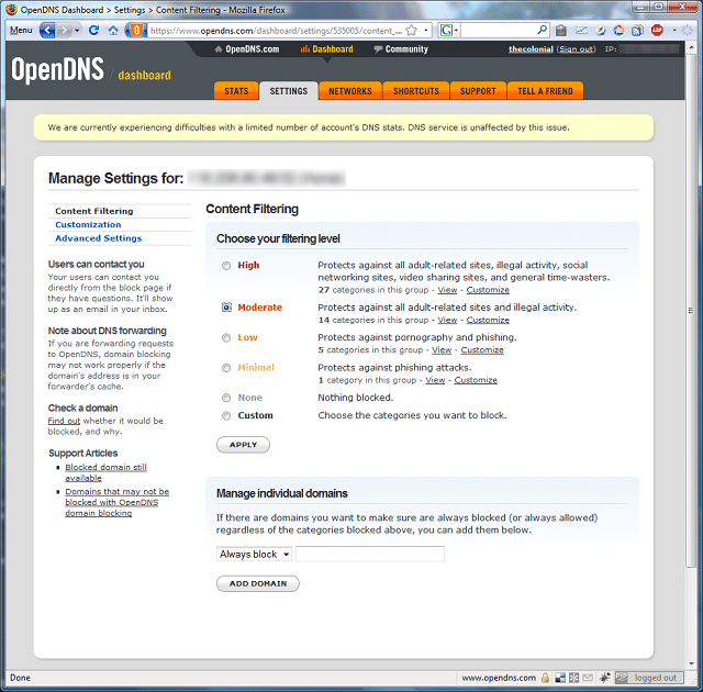 opendns_content_filtering_levels