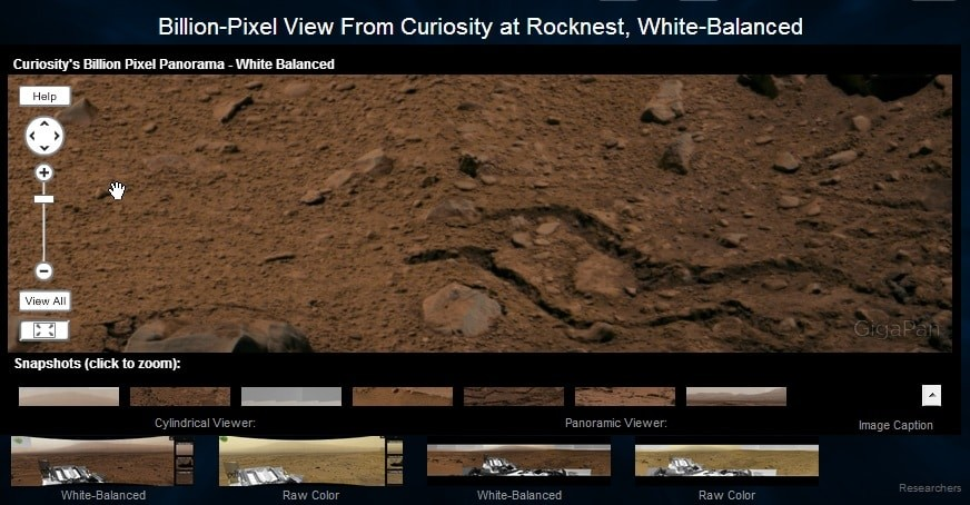 Bilion Pixel View From Curiosity