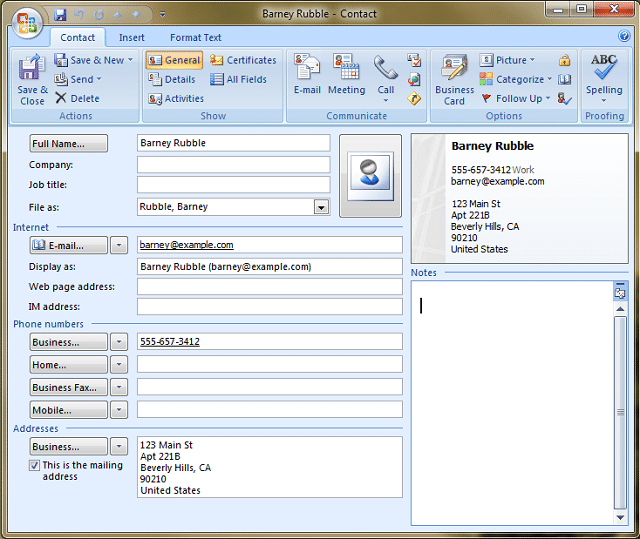 vcard-example-outlook