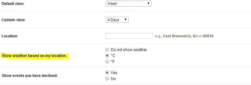 show weather