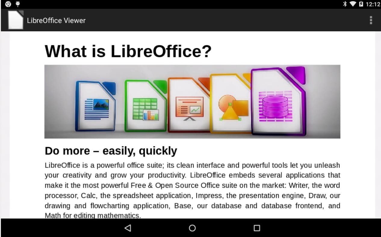 libre office viewer android
