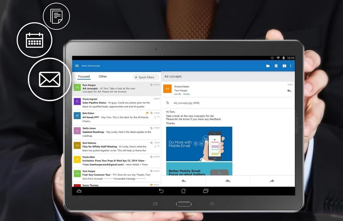 outlook preview android