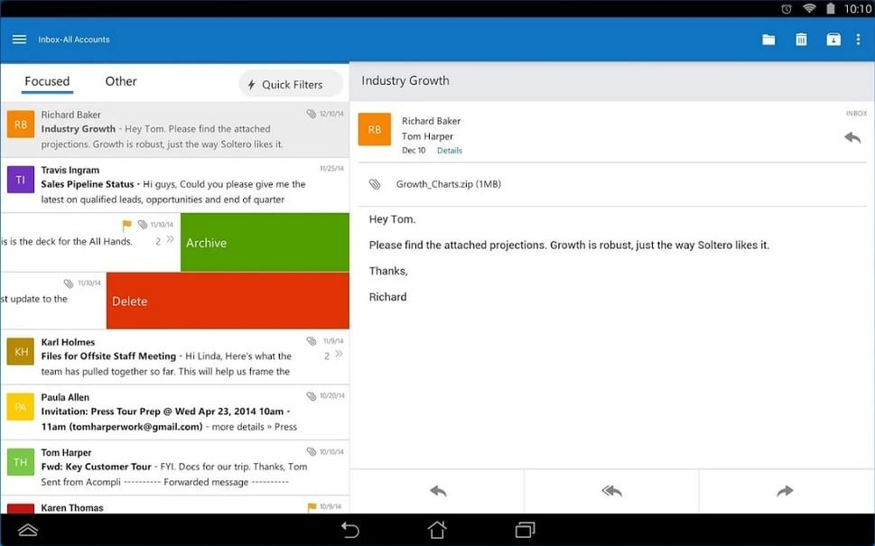 microsoft outlook android app