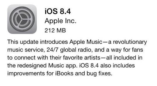 iOS 8 update small