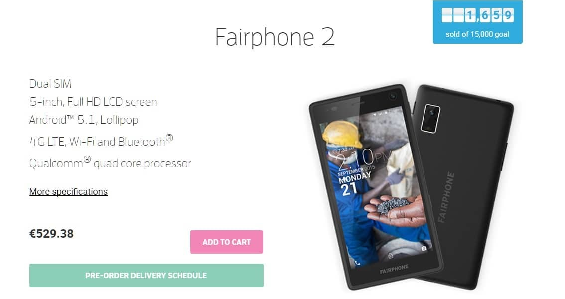 fairphone 2 preorder