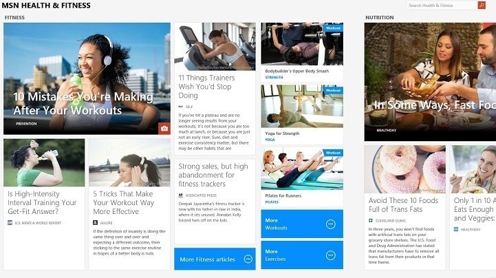 health and fitness windows app retired