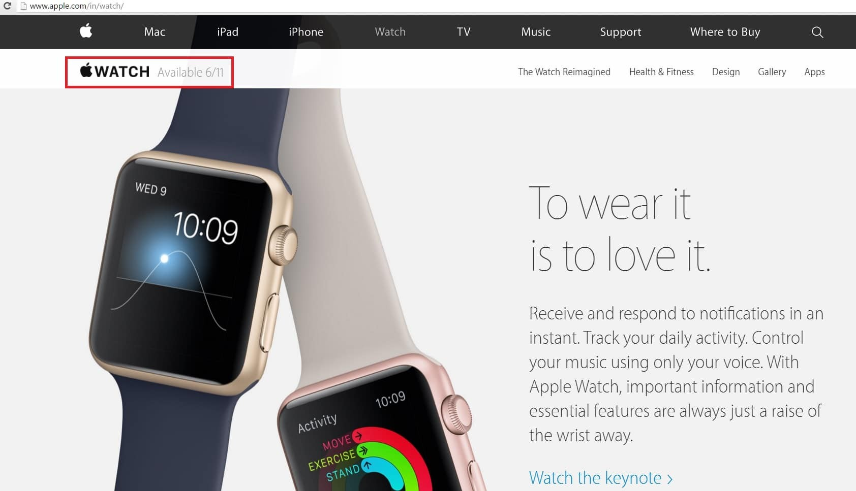 apple watch release india