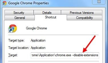 chrome safe mode