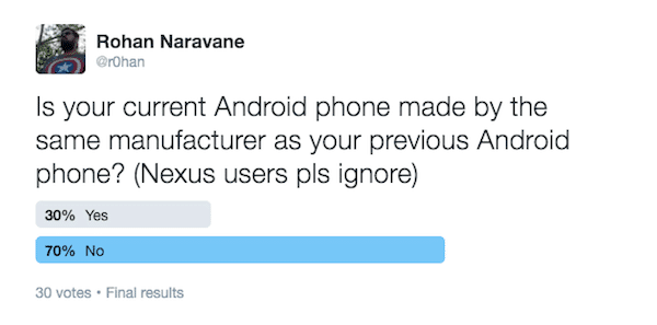 Current Android Previous Android