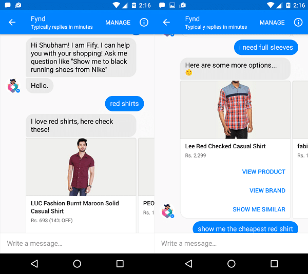 fynd-fify-facebook-chat-bot