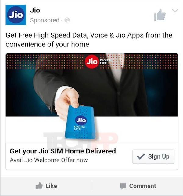 Jio ad preview