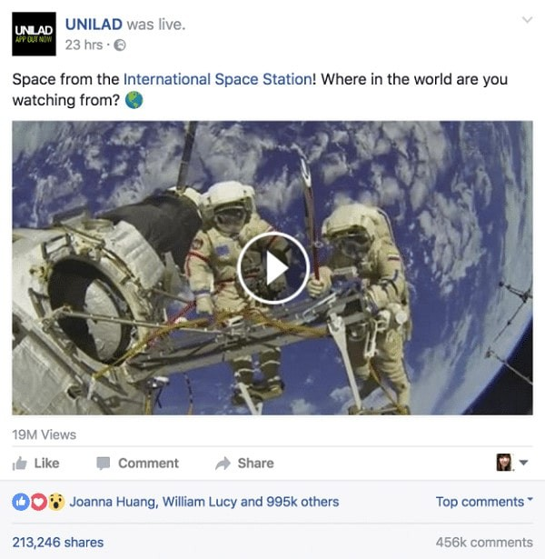 facebook-live-nasa-fake