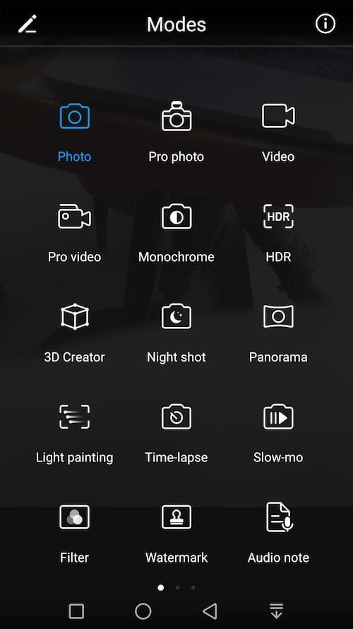honor8pro camera modes