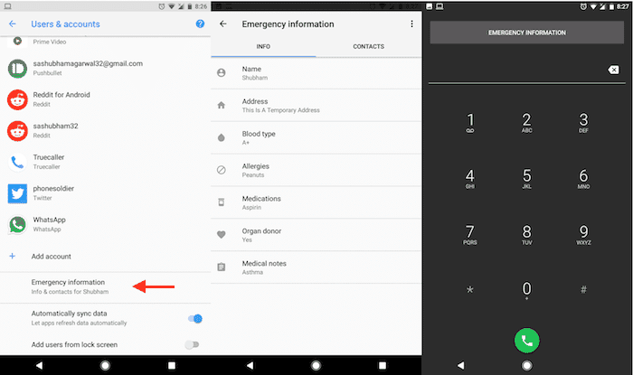 android emergency information feature2