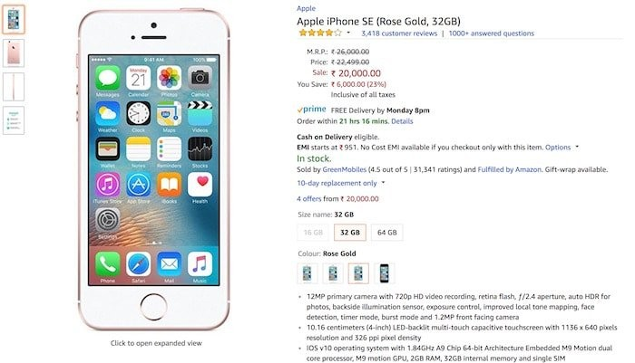 Amazon India Misleading Users Selling Refurbished Iphones At High Prices Updated
