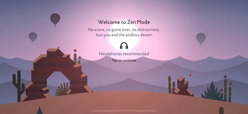 How to: Turn on Zen mode in Alto's Odyssey