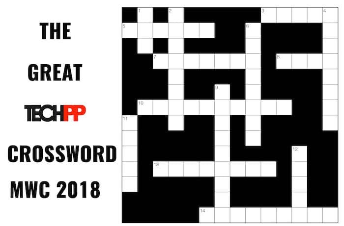 The Great TechPP Crossword: MWC 2018 Edition