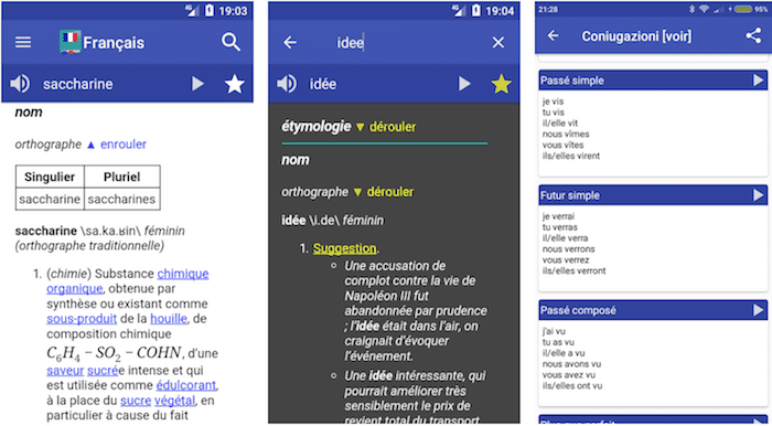 french dictionary android screenshots