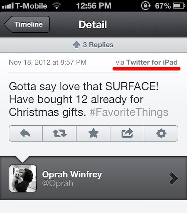 oprah surface